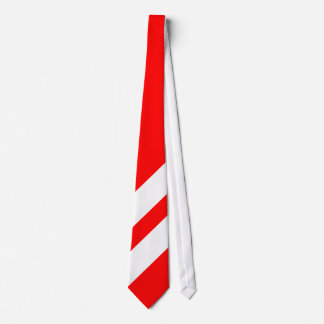 Two Thick White Stripes on Red Background Tie