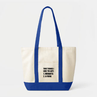 Two Things Lift Weights Fork Tote Bag