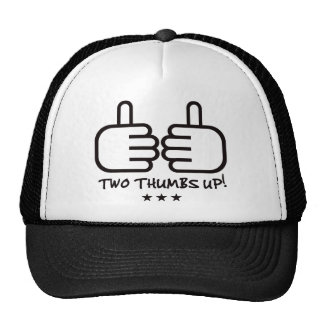 Two Thumbs Up - Black Trucker Hat