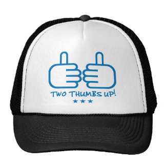Two Thumbs Up - Blue Trucker Hat