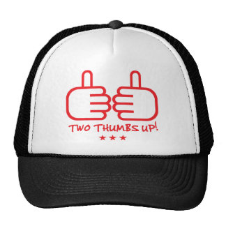 Two Thumbs Up - Red Trucker Hat