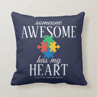 Two Tone Autism Awareness Throw Pillow