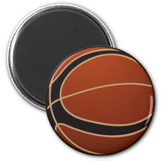 Two Tone Basketball Magnet