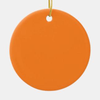 Two-Tone Black & Orange Background on an Ornament