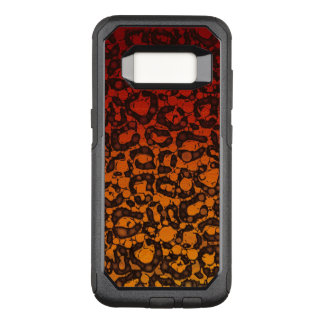 Two Tone Black Red Cheetah OtterBox Commuter Samsung Galaxy S8 Case