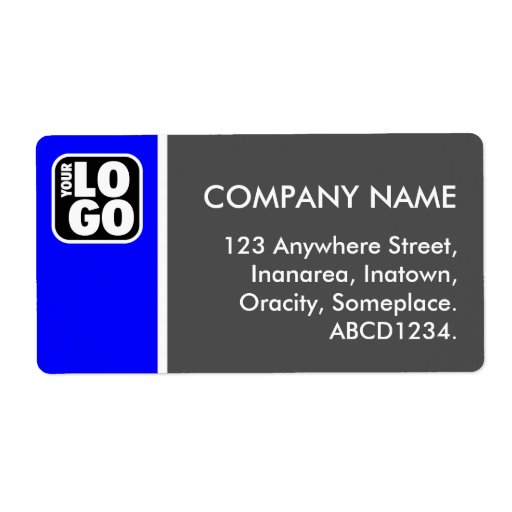 Two Tone - Blue and Gray Custom Shipping Labels