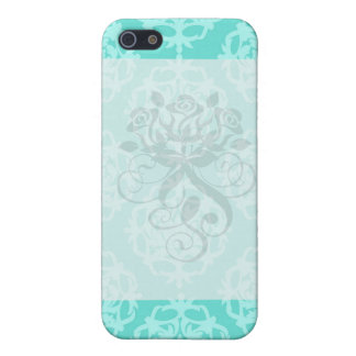 two tone blue damask cover for iPhone 5/5S