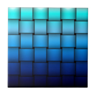 Two Tone Blue Plaided Tiles