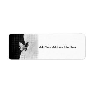 Two Tone Butterfly Return Address Label
