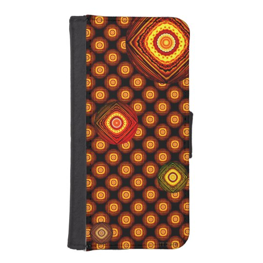 Two Tone circles With Black Background Phone Case Phone Wallet Case