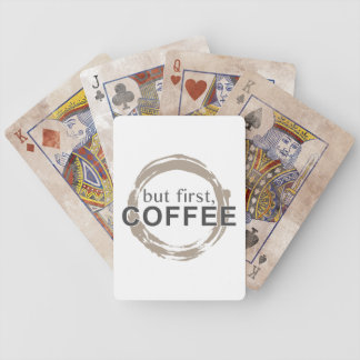 Two-Tone Coffee Mug - But First, Coffee Bicycle Playing Cards