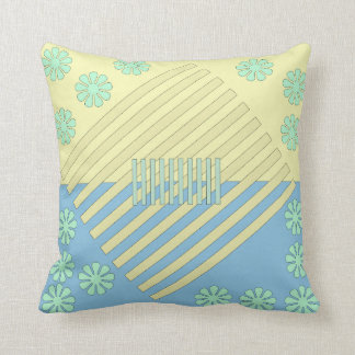 Two Tone Contrast Square Throw Pillow