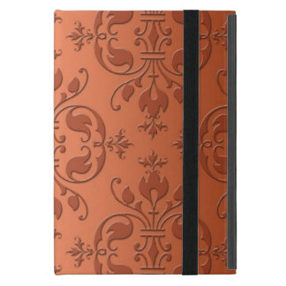 Two Tone Copper Orange Damask iPad Mini Cover