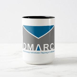 Two-Tone DMARC Logo Mug, 15 oz Two-Tone Coffee Mug