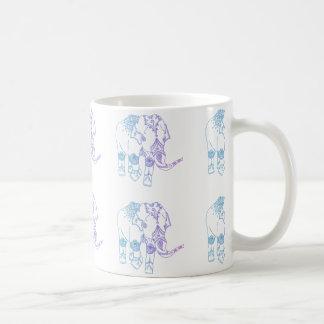 Two-Tone Embellished Elephant Mug