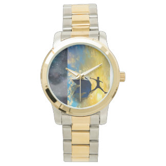 Two-Tone Gold and Silver Quantum Jumps Wristwatch
