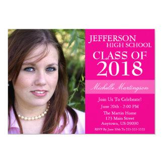 Two-Tone Graduation Invitations (Magenta Pink)