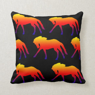 Two tone horse throw pillow