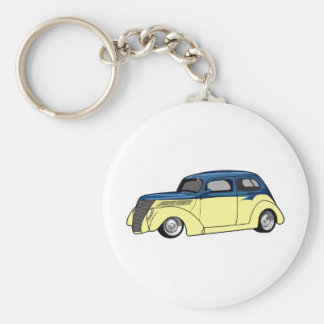 Two Tone Hot Rod Keychain