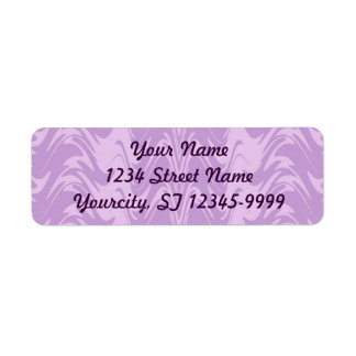 Two Tone Lavender Return Address Label