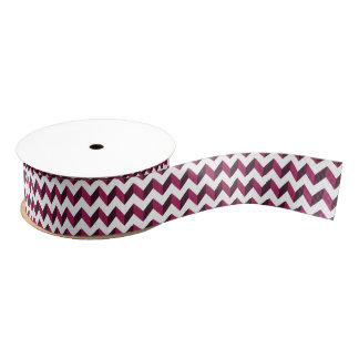 Two-Tone Magenta Chevron Grosgrain Ribbon