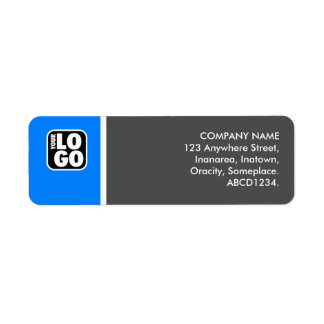 Two Tone - Mid Blue and Gray Return Address Label