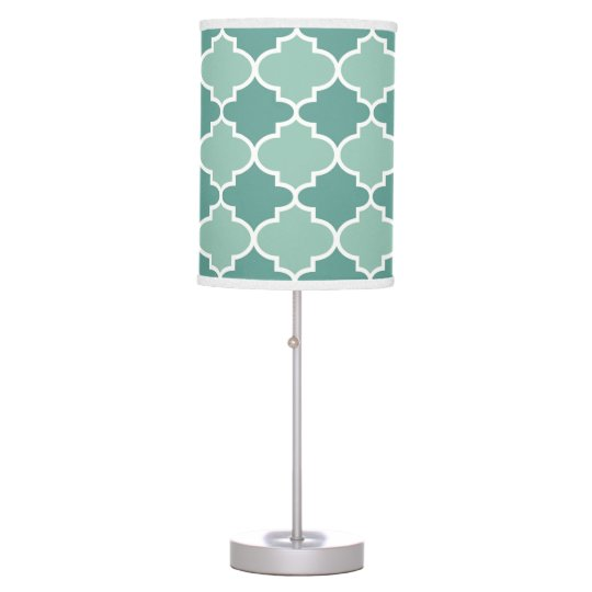 Two Tone Moroccan Lamp in Dark and Light Blue