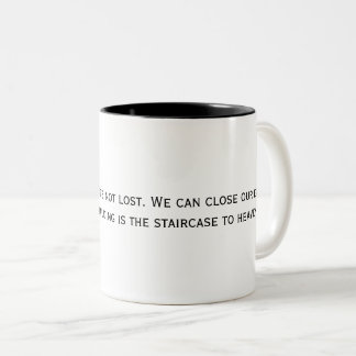 two tone mug with inspirational quote