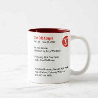 two tone Odd Couple Mug