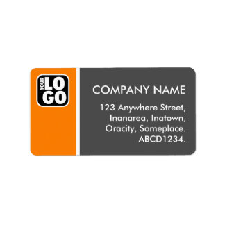 Two Tone - Orange and Gray Personalized Address Label