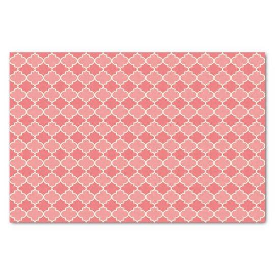 Two-Tone Pink Moroccan Lattice Tissue Paper