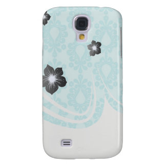 two tone pretty blue flower floral damask