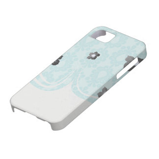 two tone pretty blue flower floral damask iPhone 5 cover