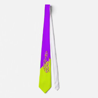 Two-tone purple & light green tie
