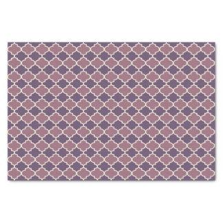 Two-Tone Purple Moroccan Lattice Tissue Paper