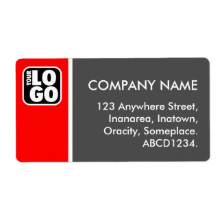 Two Tone - Red and Gray Personalized Shipping Label