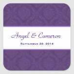 Two Tone Royal Purple Damask  Wedding V95