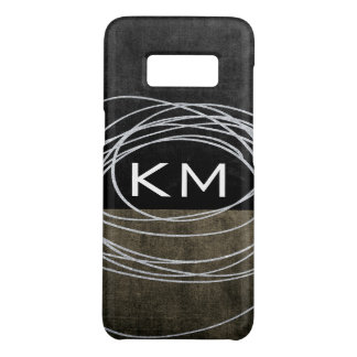 Two Tone Scribble with Monogram Case-Mate Samsung Galaxy S8 Case