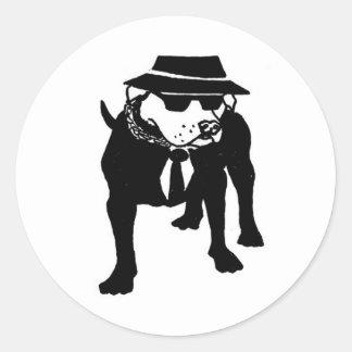 Two Tone Ska Dog Classic Round Sticker