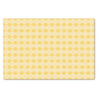Two-Tone Yellow Moroccan Lattice Tissue Paper