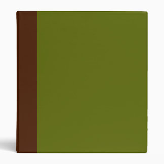 Two-Toned Brown & Olive Green Binder