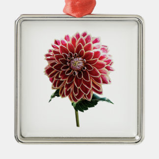 Two Toned Dahlia Metal Ornament
