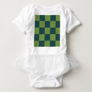 Two Toned Green Checkerboard Baby Bodysuit