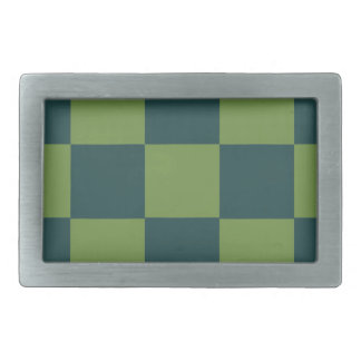 Two Toned Green Checkerboard Belt Buckle