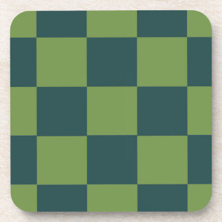 Two Toned Green Checkerboard Coaster