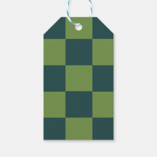 Two Toned Green Checkerboard Gift Tags