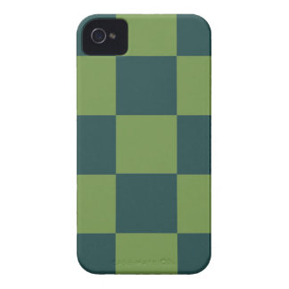 Two Toned Green Checkerboard iPhone 4 Case-Mate Case
