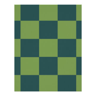Two Toned Green Checkerboard Letterhead