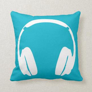 Two-Toned Headphone Pillow (White/Teal/Black)