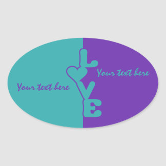 Two-Toned Love custom stickers